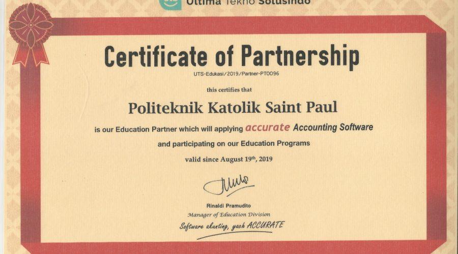 certificate partnership uts pksp 2019 ls