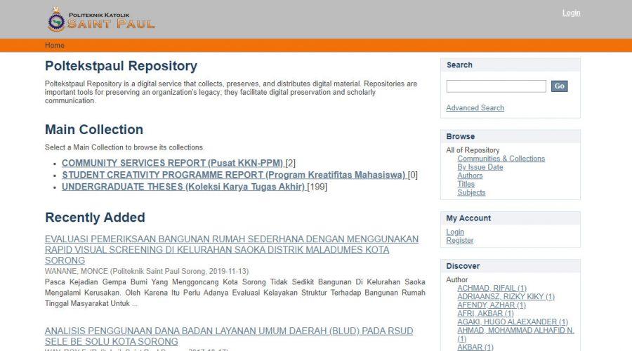 Tampilan Awal Repository